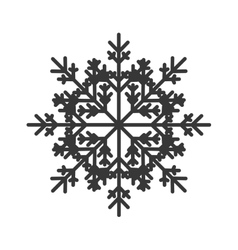 Abstract snowflake icon vector