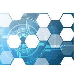Abstract technological hexagon display interface vector