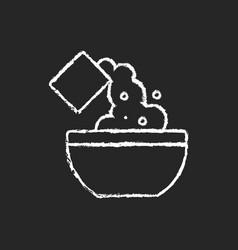 Add cooking ingredient chalk white icon on dark vector