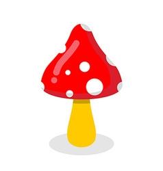 Amanita Poisonous toxic fungus Dangerous plant vector image