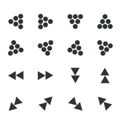 Arrow icon set 3 simple vector