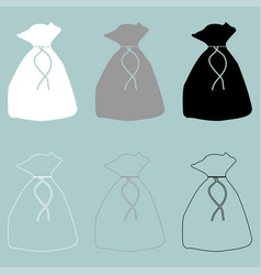 bag or sack or pouch icon bag or sack or vector image