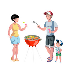 Barbecue party summer outdoor activity vector