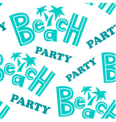 Beach party pattern vector
