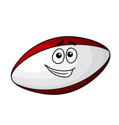 Cartoon rugby ball vector image