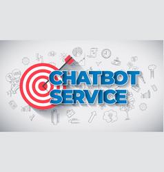 chatbot service - creative business concept web vector image