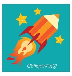 Children creativity development vector