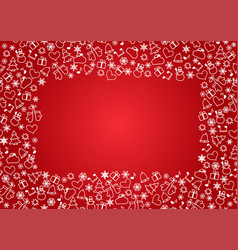 christmas seamless pattern on red background vector image