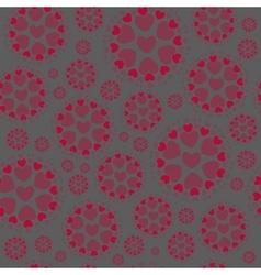 Circles with Hearts vector