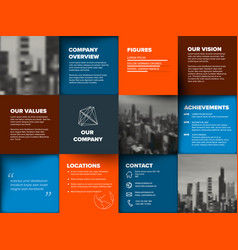 Company profile template vector