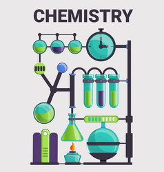 complex of chemistry glass concept background vector image