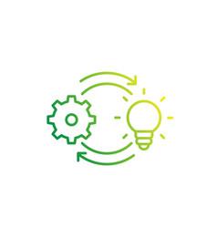 creativity creative process icon linear vector image
