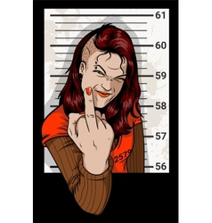 Criminal Mug Shot vector image