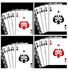 deadman hand playing cards vector image