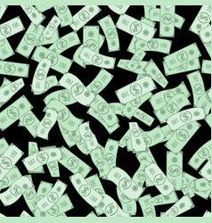 Dollar bills pattern seamless background vector