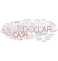 Dollar word cloud concept vector