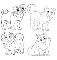 Doodle animal characters for dogs vector