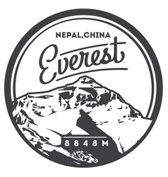 Everest in himalayas nepal china outdoor vector