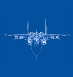 fighter plane concept vector image