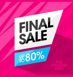Final sale banner design template vector