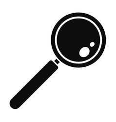 Find solution magnify glass icon simple style vector