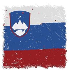 Flag of Slovenia handmade square shape vector