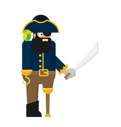 flat pirate isolated on white background vector image