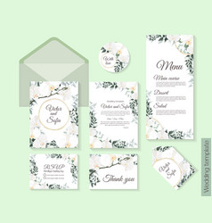 floral template for wedding invitations orchid vector image
