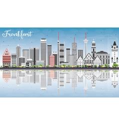 Frankfurt Skyline with Gray Buildings vector