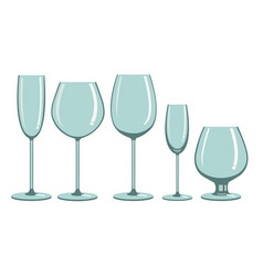 glasses for alcoholic beverages vector image