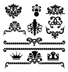 gothic design elements vector image