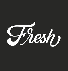 hand drawn lettering fresh ink vector image