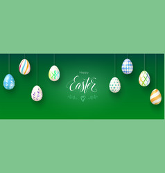 happy easter and goodness to you banner with vector image