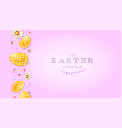 happy easter greetings card abstract pattern vector image
