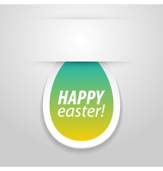Happy easter tag vector image