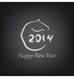 Horse 2014 year chinese symbo vector image