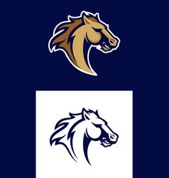 Horse head sport logotype vector