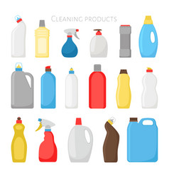 Household products bottles vector