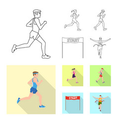 isolated object of sport and winner sign vector image