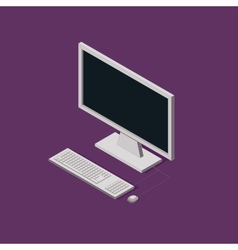 isometric of computer 3d technology vector image