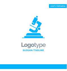 Lab microscope science zoom blue business logo vector