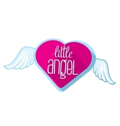 Little angel lettering for girl t-shirt vector image