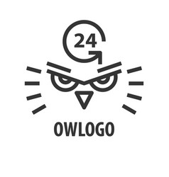 logo template of owl head vector image
