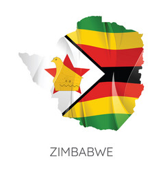 map zimbabwe vector image
