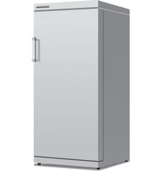 modern closed fridge vector image