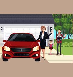 modern family vector image