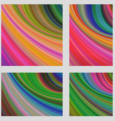 Multicolored psychedelic brochure background set vector image