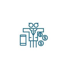 Multidimensional business linear icon concept vector