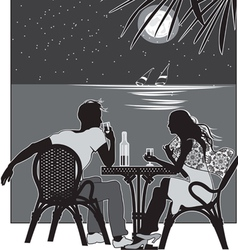 Night romance vector