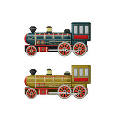 old vintage toys two engines vector image